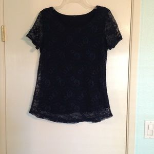 Leo and Nicole lace lined blouse